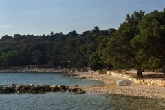 Morgentlicher Stand in Kroatien
