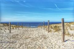 Dünenübergang auf der Insel Texel