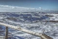 Dünenlandschaft im Schnee